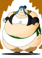 COM Chi-chi and Bulma obese fusion by Robot001