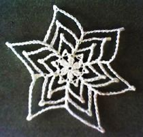 Pretty Picots Poinsettia Snowflake - Free Pattern by MidknightStarr