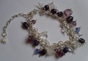 purple chain bracelet by MadDani