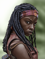 Michonne (Danai Gurira) from The Walking Dead by shezzor