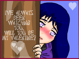 Valentines Day Card : Hinata by Sorceress2000