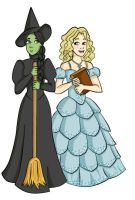 Elphaba and Glinda by llstephy