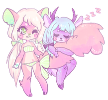 [GIFT/OC] bijou and lily~ by zenvi