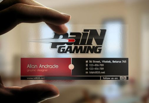 Pain Gaming Visitor Card by id820