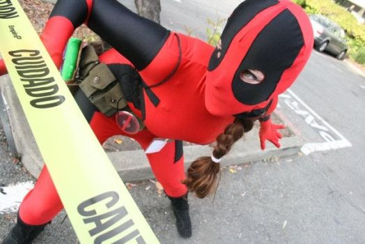 Caution: Lady Deadpool by SilverTallest
