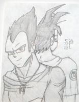 Vegito and Kakaroth by Vaan-Midlad