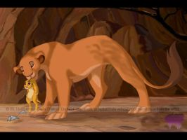 Sarabi and Simba by alaitallon