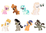 Fillies and Colts ADOPTABLES (CLOSED) by FallenFireFox
