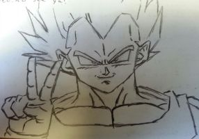 Vegeta- See ya later, my friend! Peace! by Gilly5