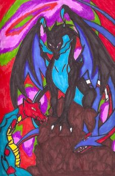 Three Pokemon Dragons 2 by jmq