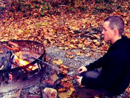 Cooking Over A Camp Fire by DJCandiDout