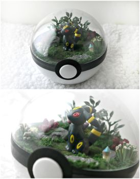 Umbreon Dark Forest -  Poke Ball Terrarium by TheVintageRealm