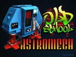 Old School Astromech by JefferyWright