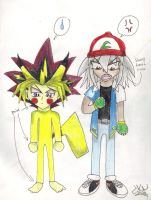Trainer Bakura and Pika Yugi? by supersonicfox