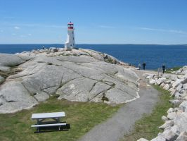 Peggy's Cove Lighthouse 2009 by Wedgewenis