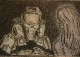 John and Cortana by Uus117