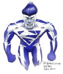 Daily Sketches Blue Superman by fedde