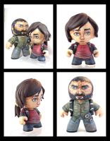 Joel and Ellie Last of Us custom figure set by FlyingSciurus
