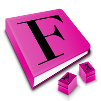 pink font book by vector-assassin