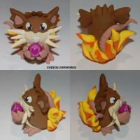Raticate w/ Life Orb Flames by ChibiSilverWings