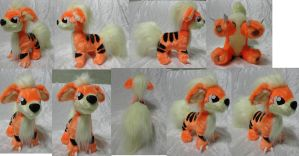 Growlithe plush by Rens-twin