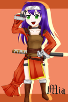 Mia as a FE Awakening myrmidon!XD by levenark