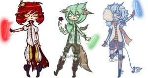 Freehand Elemental Adoptables [CLOSED] by JeanaWei