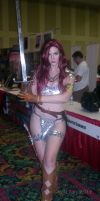 Red Sonja Takes on Las Vegas Comic Expo 2012 by SurfTiki