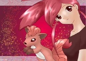 Flannery and Vulpix by igtica