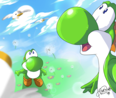 Yoshi's Inspiration by super-tuler