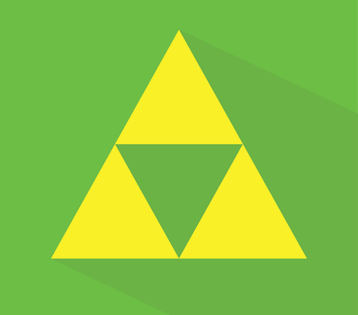 Flat Triforce by Spoldier
