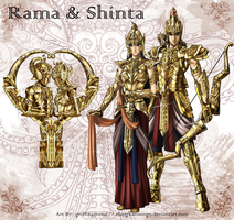 Rama and Shinta by elangkarosingo
