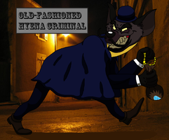 Old-fashioned hyena criminal by theHyenasSBE