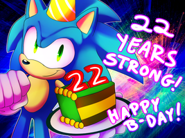 Happy Birthday Sonic by BlazingLillyArtz