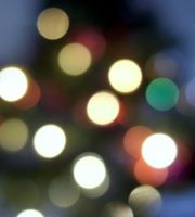 christmas tree bokeh by bebadawn