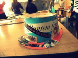 Just a hat.Am awesome hat made by me :) by SilvikLeMe