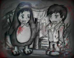 Warm Bodies x Zombie in a Penguin suit crossover by DavidDarkheartKing