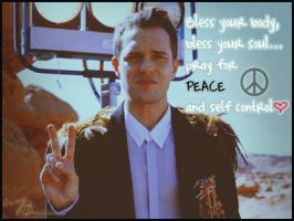 Brandon Flowers PeaceandLOVE by gAvrieLa-BremOnt