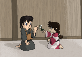Little Miroku and Sango by Miiroku