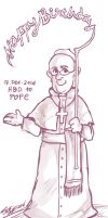 HBD to Pope Francis by seiji606