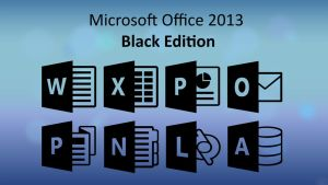 Microsoft Office 2013 Black Edition Icons by jorgenwoldengen