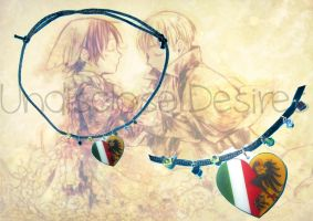 APH - Holy Roman Hempire x Italy- Heart Necklaces by Undisclose--Desires