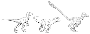 Deinonychus variants by oghaki