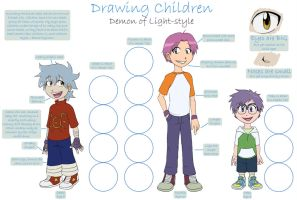 Drawing Children Tutorial by demonoflight