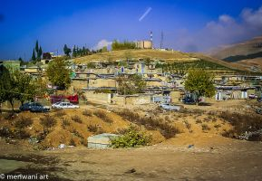 Houses on hill 111468 by meriwani