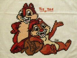Rescue Rangers Cross Stitch by Santian69