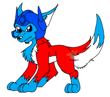 G1 Optimus as wolf by Amandaxter
