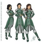 Korra Kuvira and Asami Earth Kingdom by Inspector97