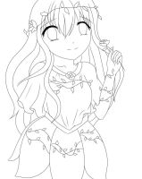 flower girl lineart by InoriNoUta