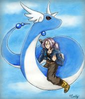 Dragonair and Trunks by emmitz